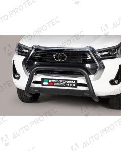 MISUTONIDA Frontbügel schwarz Toyota Hilux 63 mm 2020-