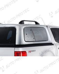 AEROKLAS Ford Ranger Raptor seitliche Aufklappfenster – richtig