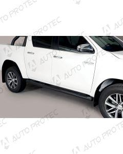 MISUTONIDA Schwellerrohre schwarz - 76 mm Toyota Hilux