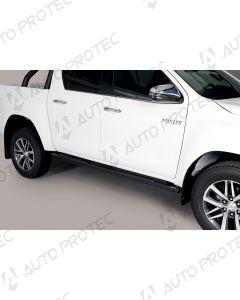 MISUTONIDA Schwellerrohre schwarz - oval Toyota Hilux