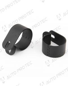 Misutonida Tube clamp pair Black – 63 mm