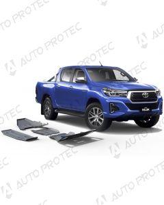 AutoProtec Unterfahrschutz 6 mm - Set Toyota Hilux 15-